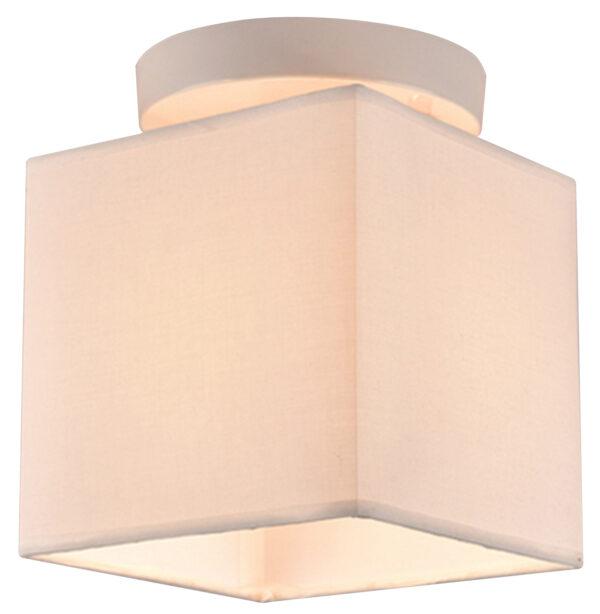 BOHO LAMPA SUFITOWA 1X40W E27 BIAŁY ABAŻ. BEŻOWY - 31-58423