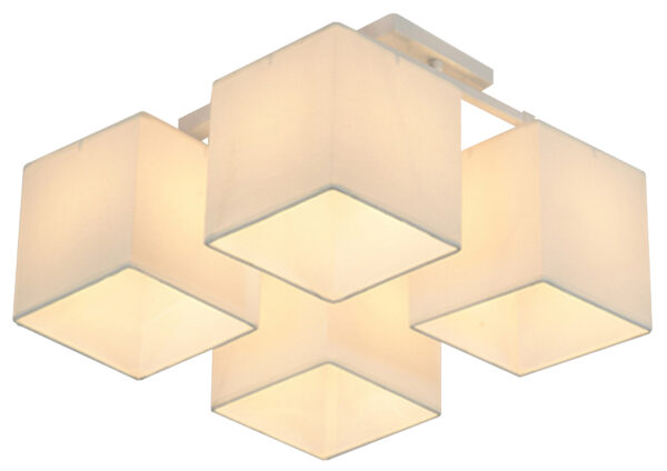 BOHO LAMPA SUFITOWA 4X40W E27 BIAŁY ABAŻ. BEŻOWY - 34-58485