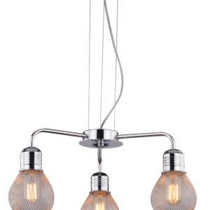 GLIVA LAMPA WISZĄCA 3X60W E27 CHROM (BEZ ŻARÓWEK) - 33-58539