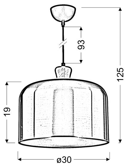 DICTORIA LAMPA WISZĄCA 30 1X40W E27 ZŁOTY - 31-58553