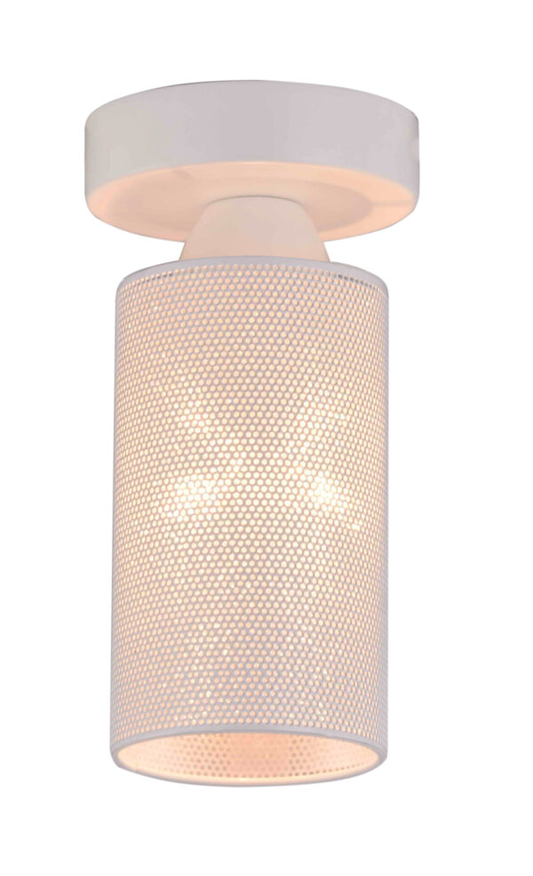 INDIRA LAMPA SUFITOWA 10 1X40W E14 BIAŁY - 31-58614