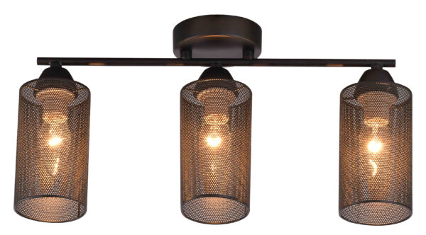 INDIRA LAMPA SUFITOWA LISTWA 3X40W E14 CZARNY - 33-58621