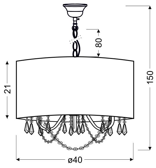 RUTI LAMPA WISZĄCA 40 3X40W E14 BEŻOWY - 31-58690