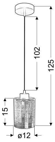 MARCEPAN LAMPA WISZĄCA 12 1X60W E27 CHROM - 31-59109
