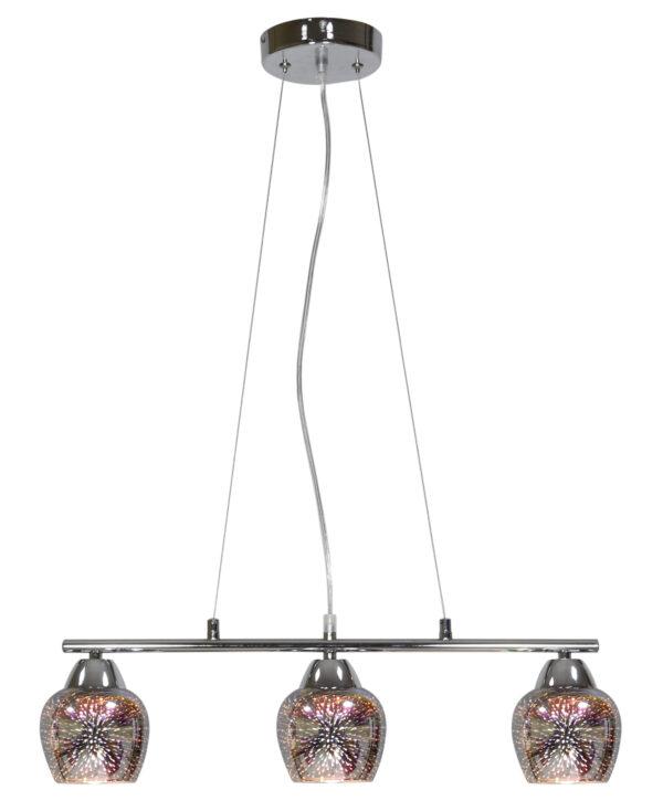 SIRIUS LAMPA WISZĄCA 3X60W E27 CHROM 3D - 33-59611