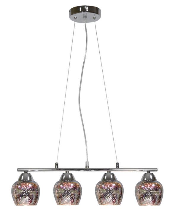 SIRIUS LAMPA WISZĄCA 4X60W E27 CHROM 3D - 34-59628