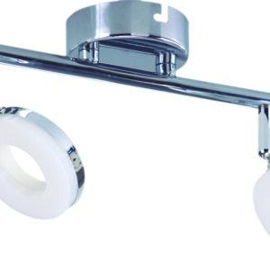 THEMA LAMPA SUFITOWA LISTWA 2X5W LED CHROM - 92-60778