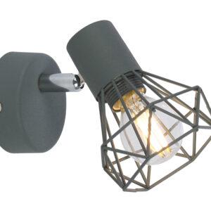 VERVE LAMPA KINKIET 1X40W E14 MATOWY SZARY - 91-60969