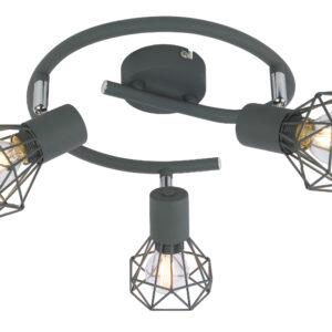 VERVE LAMPA SUFITOWA SPIRALA 3X40W E14 MATOWY SZARY - 98-60990