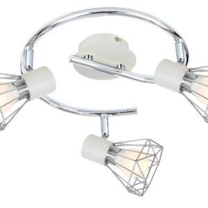 VERVE LAMPA SUFITOWA SPIRALA 3X40W E14 BIAŁY ABAŻUR CHROM - 98-61355