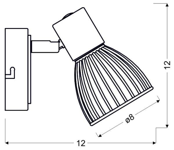MODO LAMPA KINKIET 1X40W E14 CZARNY+CHROM - 91-61515