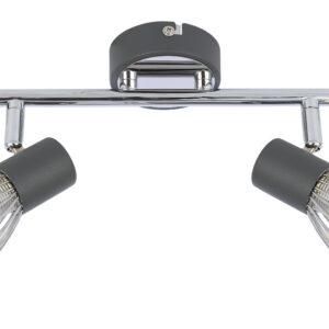 MODO LAMPA SUFITOWA LISTWA 2X40W E14 CZARNY+CHROM - 92-61522