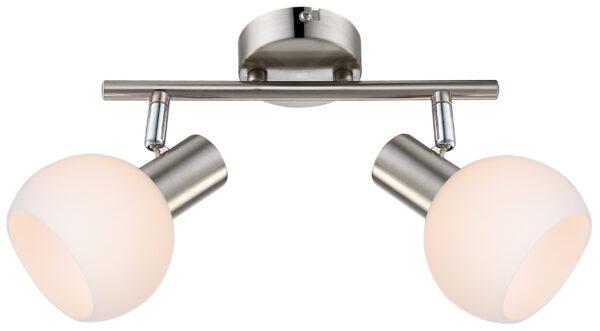 MAURO LAMPA SUFITOWA LISTWA 2X4W E14 LED RGB SATYNA NIKIEL Z PILOTEM - 92-61591