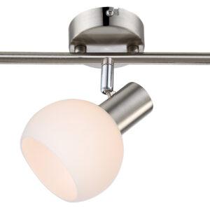 MAURO LAMPA SUFITOWA LISTWA 3X4W E14 LED RGB SATYNA NIKIEL Z PILOTEM - 93-61607
