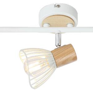 CHILE LAMPA SUFITOWA LISTWA 3XMAX25W E14 BIAŁY + DREWNO - 93-61638