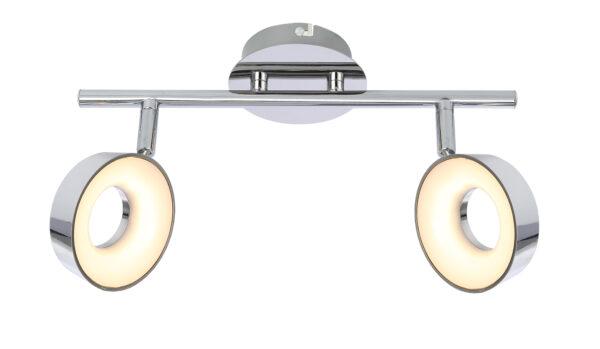 ISLA LAMPA SUFITOWA LISTWA 2X4W LED CHROM 3000K - 92-61713