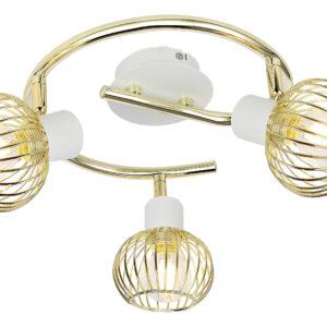 OSLO LAMPA SUFITOWA SPIRALA 3X40W E14 BIAŁY/ZŁOTY - 98-61829