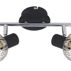 OSLO LAMPA SUFITOWA LISTWA 2X40W E14 CZARNY/CHROM - 92-61843