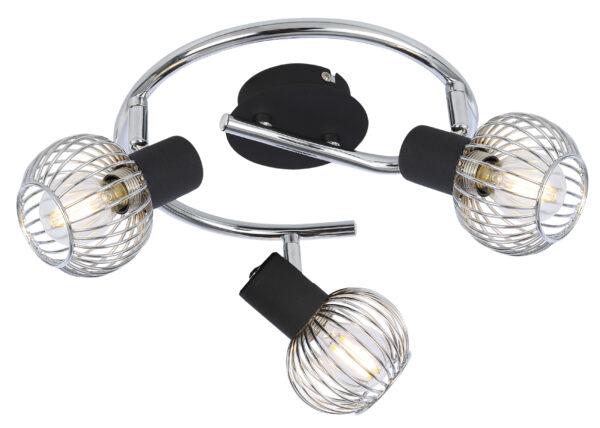 OSLO LAMPA SUFITOWA SPIRALA 3X40W E14 CZARNY/CHROM - 98-61867