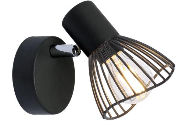 FLY LAMPA KINKIET 1X40W E14 CZARNY - 91-61881