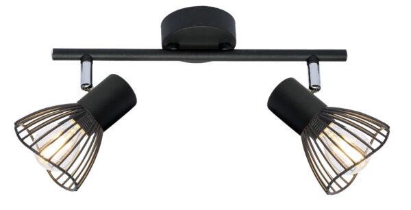 FLY LAMPA SUFITOWA LISTWA 2X40W E14 CZARNY - 92-61898