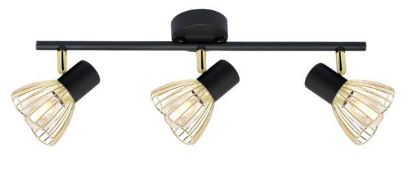 FLY LAMPA SUFITOWA LISTWA 3X40W E14 CZARNY/ZŁOTY - 93-61928