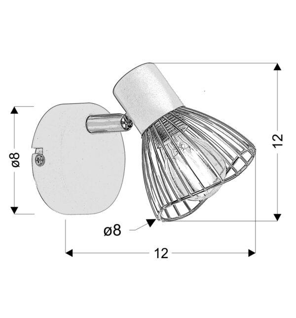 FLY LAMPA KINKIET 1X40W E14 BIAŁY/CHROM - 91-61959