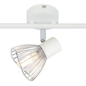 FLY LAMPA SUFITOWA LISTWA 3X40W E14 BIAŁY/CHROM - 93-61973