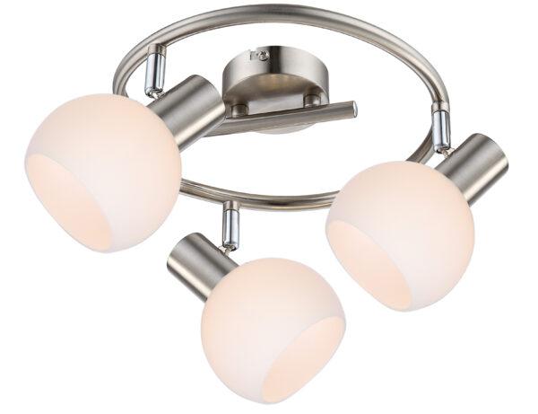MAURO LAMPA SUFITOWA SPIRALA 3X4W E14 LED RGB SATYNA NIKIEL Z PILOTEM - 98-61997