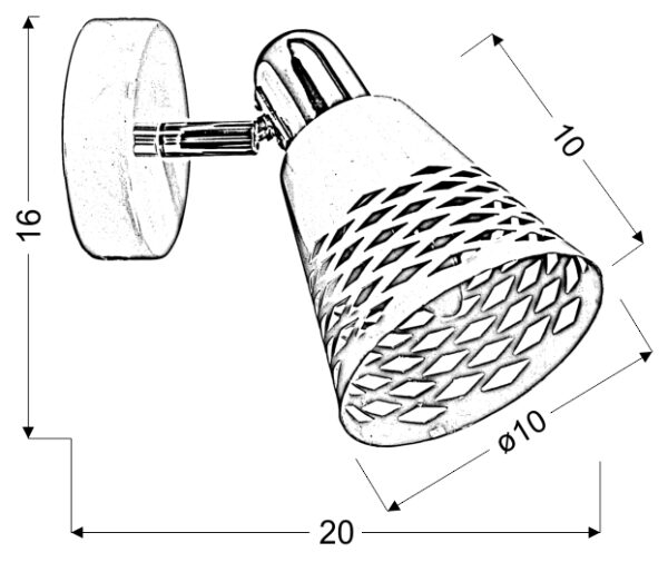 DISCOVERY LAMPA KINKIET 1X40W E14 CHROM/ BIAŁY - 91-62154
