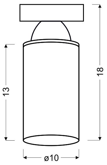 INDIRA LAMPA SUFITOWA 10 1X40W E14 CZARNY - 31-62505