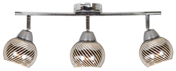 FORT LAMPA SUFITOWA LISTWA 3X10W E14 LED CHROM - 93-62826