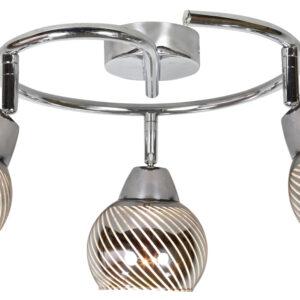 FORT LAMPA SUFITOWA SPIRALA 3X10W E14 LED CHROM - 98-62833