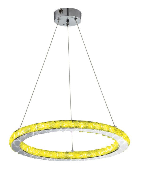LORDS LAMPA WISZĄCA OKRĄGŁY POJEDYNCZY 40 12W LED RGB CHROM Z PILOTEM - 31-63113