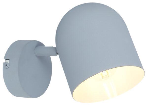 AZURO LAMPA KINKIET 1X40W E27 SZARY MAT - 91-63205