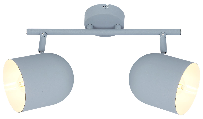 AZURO LAMPA SUFITOWA LISTWA 2X40W E27 SZARY MAT - 92-63212