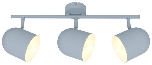 AZURO LAMPA SUFITOWA LISTWA 3X40W E27 SZARY MAT - 93-63229