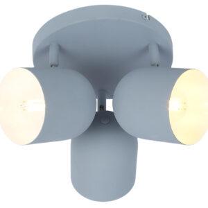AZURO LAMPA SUFITOWA PLAFON 3X40W E27 SZARY MAT - 98-63236
