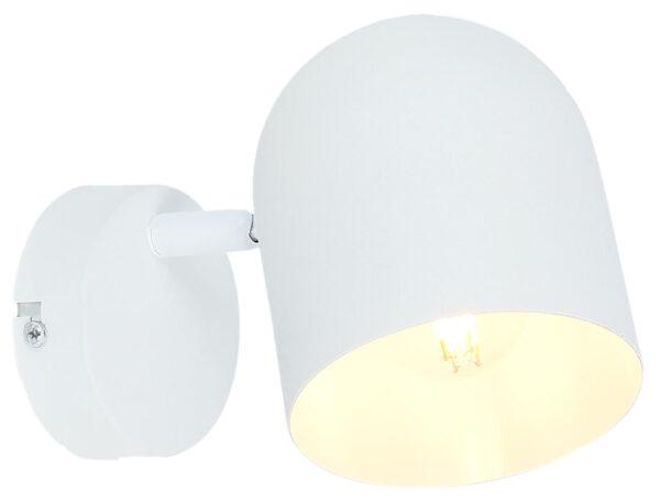 AZURO LAMPA KINKIET 1X40W E27 BIAŁY - 91-63243