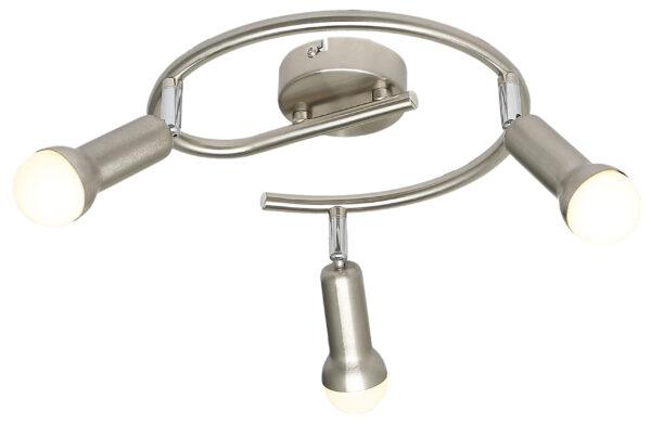 ARC LAMPA SUFITOWA SPIRALA 3X40W E14 SATYNA NIKIEL - 98-63304