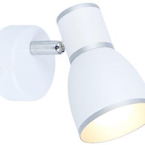 FIDO LAMPA KINKIET 1X40W E14 BIAŁY+CHROM - 91-63366