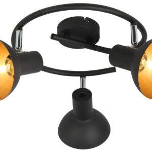 DISO LAMPA SUFITOWA SPIRALA 3X40W E27 CZARNY+ZLOTO - 98-63434