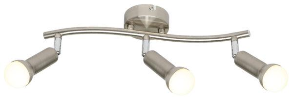 ARC LAMPA SUFITOWA LISTWA 3X40W E14 SATYNA NIKIEL - 93-63465