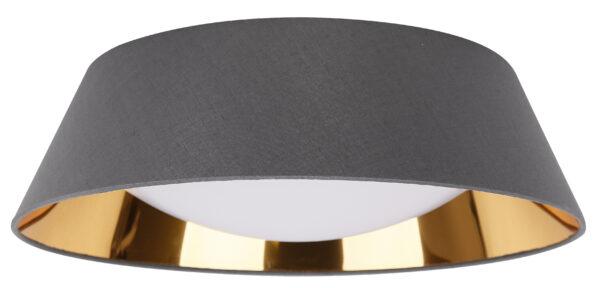 MOLA LAMPA SUFITOWA PLAFON 43 16W LED 6500 K Z ABAŻUREM SZARY - 31-63663