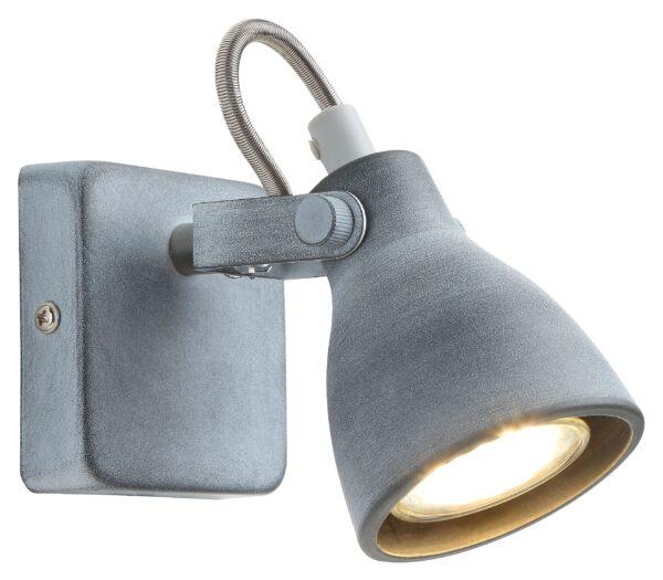 ASH LAMPA KINKIET 1X40W GU10 SZARY MAT - 91-64394