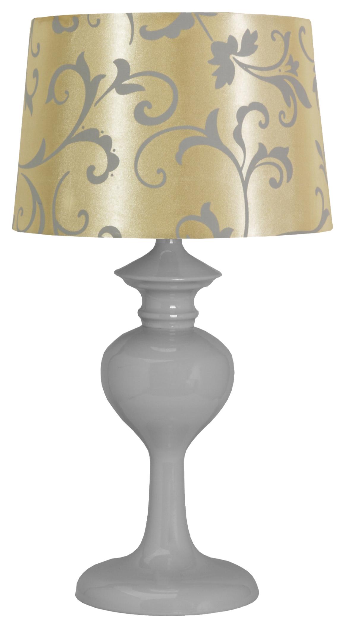 BERKANE LAMPA 1X40W E14 SZARY/BEŻOWY - 41-64431