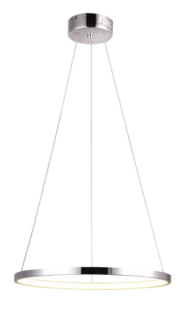 LUNE LAMPA WISZĄCA 30 OKRĄGŁY 18W LED 4000K CHROM - 31-64592