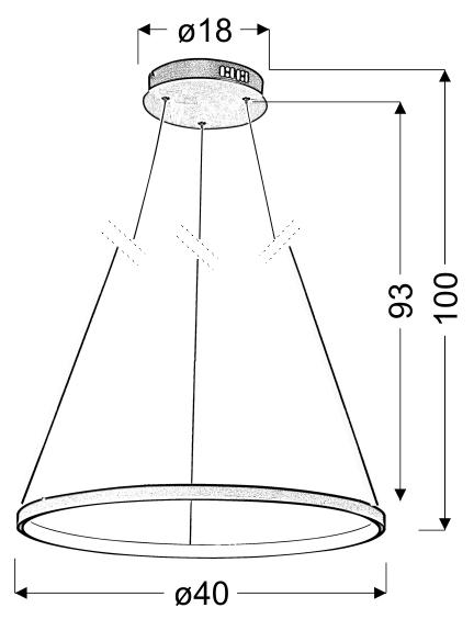 LUNE LAMPA WISZĄCA 40 OKRĄGŁY 25W LED 4000K BIAŁY - 31-64608