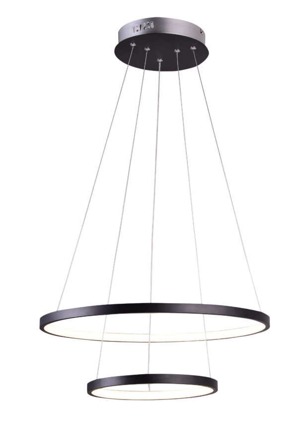 LUNE LAMPA WISZĄCA 50 OKRĄGŁY PODWÓJNY 40W LED 4000K CZARNY - 32-64745