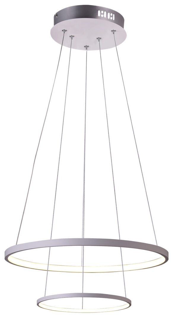 LUNE LAMPA WISZĄCA 50 OKRĄGŁY PODWÓJNY 40W LED 4000K BIAŁY - 32-64752